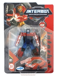 MEGA - İnterbot Robota Dönüşen Kırmızı Metal Araba