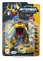 MEGA - İnterbot Robota Dönüşen Sarı Metal Araba