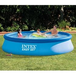İntex - İntex 28143 Easy Kolay Kurulum Büyük Şişme Aile Havuzu 396 cm X 84 cm