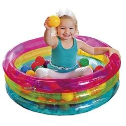 intex 3 Boğumlu Renkli Oyun havuzu 50 Top Hediyeli - Thumbnail