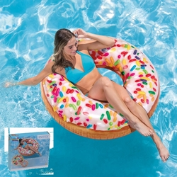 İntex - Intex 56263 Serpme Donut Şişme Simit 114 Cm