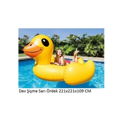 İntex 56286 Şişme Sarı Ördek Binici Ada - Thumbnail