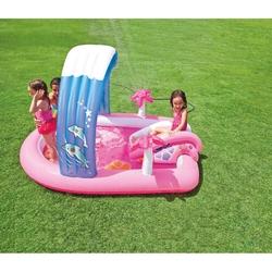 İntex - İntex 57137 Hello Kitty Şişme Kaydıraklı Oyun Havuzu