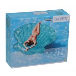 Intex 57255 Şişme Şeffaf Deniz Kabuğu Ada-Yatak 191x191x25 Cm - Thumbnail