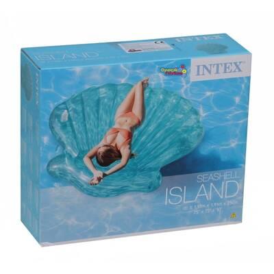 Intex 57255 Şişme Şeffaf Deniz Kabuğu Ada-Yatak 191x191x25 Cm