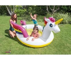 İntex - Intex 57441 Şişme Çocuk Havuzu Tek Boynozlu At 272x192x104 Cm