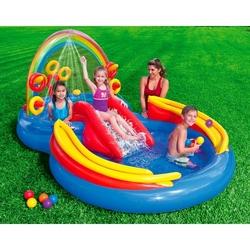 İntex - İntex 57453 Kaydıraklı Şişme Çoçuk Havuzu Pompa Hediye