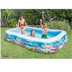 İntex - İntex 58485 Balık Desenli Şeffaf Aile Havuzu