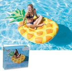 İntex - İntex 58761 Ananas Desenli Şişme Deniz Havuz Yatağı Ada 216x124 Cm