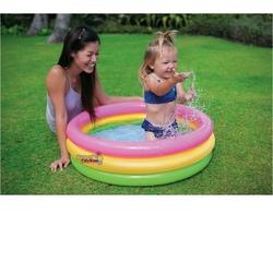 İntex - İntex 58924 İntex Sunset 3 Boğumlu Şişme Bebek Havuzu 86x25 Cm