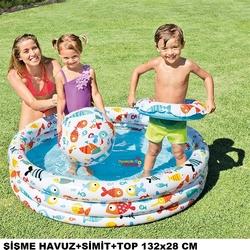İntex - İntex 59469 Balık Desenli Havuz Set