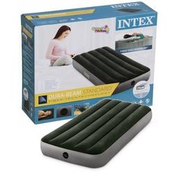 İntex - İntex 64106 Tek Kişilik Şişme Yatak Yeşil-Gri Renk 76x191x25 cm