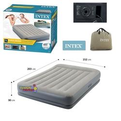 İntex - intex 64118 Elektrikli Çift Kişilik Şişme Yatak Fiber Tech Dura-Beam 152x203x30 Cm