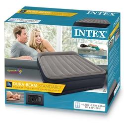 İntex - intex 64136 İntex Şişme Yatak Çift Kişilik Elektirikli Queen Deluxe Yatak Fibe