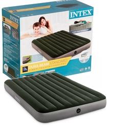 İntex - Intex 64763 Çift Kişilik Şişme Yatak (Kendinden Ayak Pompalı) 152x203x25 cm Yeşil Gri