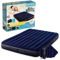 İntex - İntex 64765 Classic Çift Kişilik Şişme Yatak Seti Pompa ve Yastık 152x203x25 cm