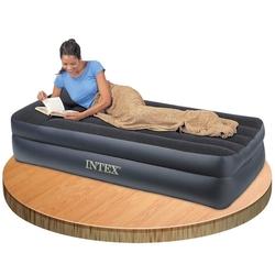 İntex - İntex 66706 Tek Kişilik Şişme Yatak Elektrikli Çift Katlı