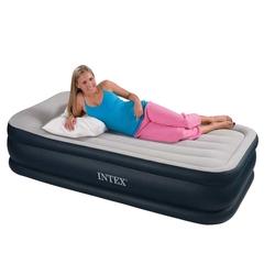 İntex - İntex 67732 Tek Kişilik Şişme Yatak 3 katlı Elektirikli