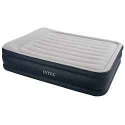 İntex - İntex 67738 3 Katlı Çift Kişilik Şişme Yatak Elektirikli Kadife Kaplı