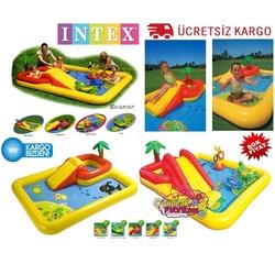 İntex - İntex Aquapark Şişme Çocuk Oyun Havuzu Kaydıraklı 254x196x79 cm