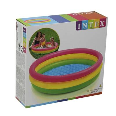 İntex Büyük Kaydırak ve Şişme İntex 3 Boğumlu Şişme Havuz+100 Adet Top+Pompa+Tamir Kiti