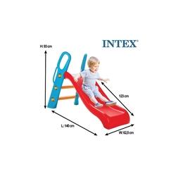 İntex Büyük Kaydırak ve Şişme İntex 3 Boğumlu Şişme Havuz+100 Adet Top+Pompa+Tamir Kiti - Thumbnail
