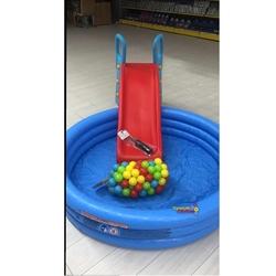 intex Büyük Kaydırak ve Şişme İntex Şişme Mavi Havuz+100 Adet Top+Pompa+Tamir Kiti - Thumbnail