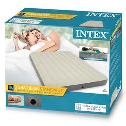İntex - İntex Çift Kişilik Şişme Yatak Tek Katlı Queen Deluxe 64709