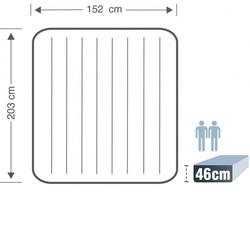 INTEX Elektrikli Çift Kişilik Şişme Yatak 64126 Gri (152x203x46cm) - Thumbnail