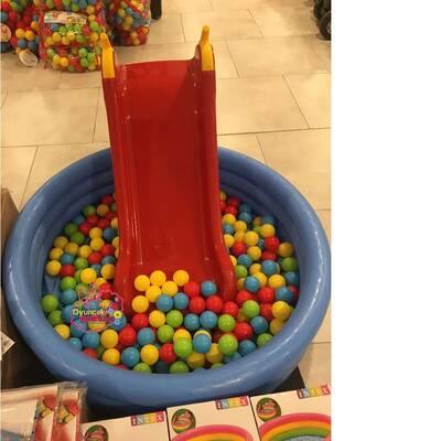 İntex Havuz Çocuk Kaydırak Pompa Ve 150 Adet Top Hediyeli