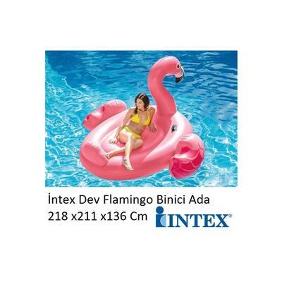 İntex Şişme Dev Flamingo Binici Ada