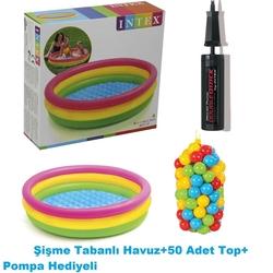 İntex - İntex Şişme Havuz 50 Adet Havuz Topu +Pompa Hediyeli 114 X25 Cm