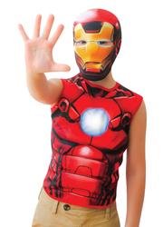 IRON MAN - Iron Man Üst Kostüm 10-12 Yaş