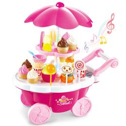 MEGA - Işıklı ve Sesli Pembe Dondurma Arabası 668-25