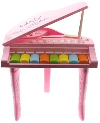 Işıklı ve Sesli Pembe İlk Pianom