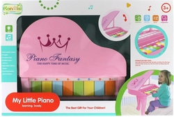 Işıklı ve Sesli Pembe İlk Pianom - Thumbnail