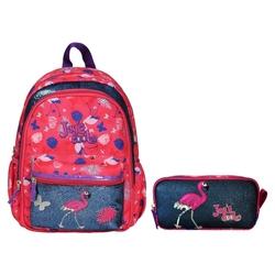 HİLAL - Joy's Cool Flamingo İşlemeli Anaokulu Çanta Seti