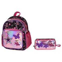 HİLAL - Joy's Cool Pullu Yıldız İşlemeli Anaokulu Çanta Seti
