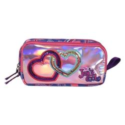 HİLAL - Joy's Cool Zinci Kalp İşlemeli Çift Bölmeli Kalemlik