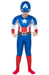 CAPTAIN AMERIKA - Kaptan Amerika Kostüm 7-9 Yaş