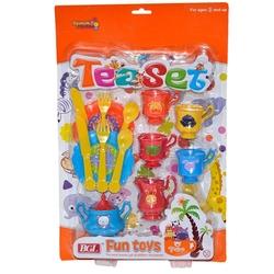 Birlik Oyuncak - Kartela Büyük Renkli Oyuncak Çay Seti
