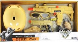 MEGA - Oyuncak Kasklı ve Çift Silahlı Polis Seti