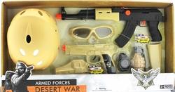 MEGA - Kasklı ve Siyah Tüfekli Polis Seti