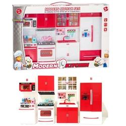Kayyum Oyuncak - Kayyum Oyuncak Kıtchen Modern Mutfak Seti -Açılır Kapak, Pilli Işıklı ve Sesli 4 Parça