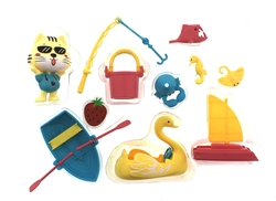 MEGA - Kedi Şehri Çantalı Plaj Oyun Seti