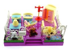 MEGA - Kedi Şehri Sarı Kedili Çamaşır ve Ütü Odası Seti