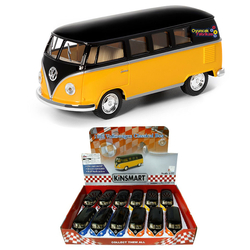 Kinsmart - Kinsmart 1962 Volkswagen Classical Bus 1:32 Metal Çek Bırak Araba
