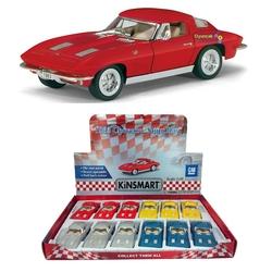 Kinsmart - Kinsmart 1963 Corvette Sting Ray 1:36 Metal Çek Bırak Araba