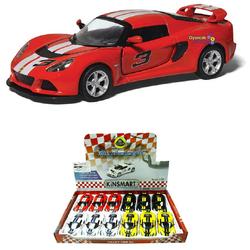 Kinsmart - Kinsmart 2012 Lotus Exige S 1:32 Oyuncak Metal Çek Bırak Araba Çizgili