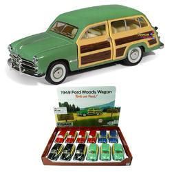 Kinsmart - Kinsmart Çek Bırak Araba 1949 Ford Woody Wagon KT5402D